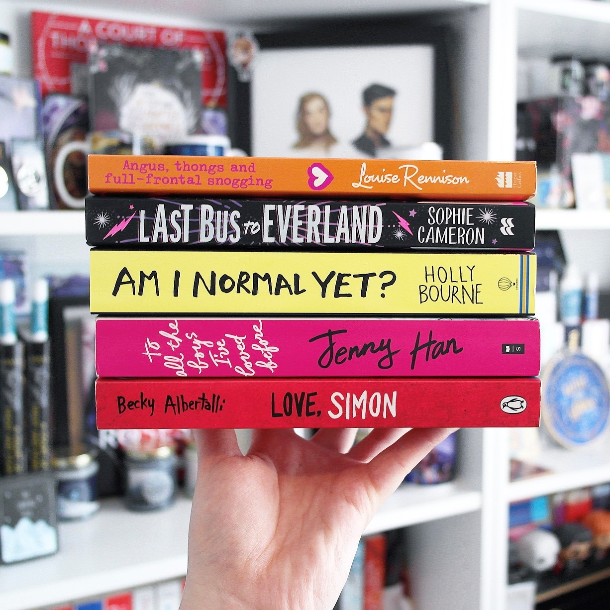 A wrap up image of the YA books I'm recommending.