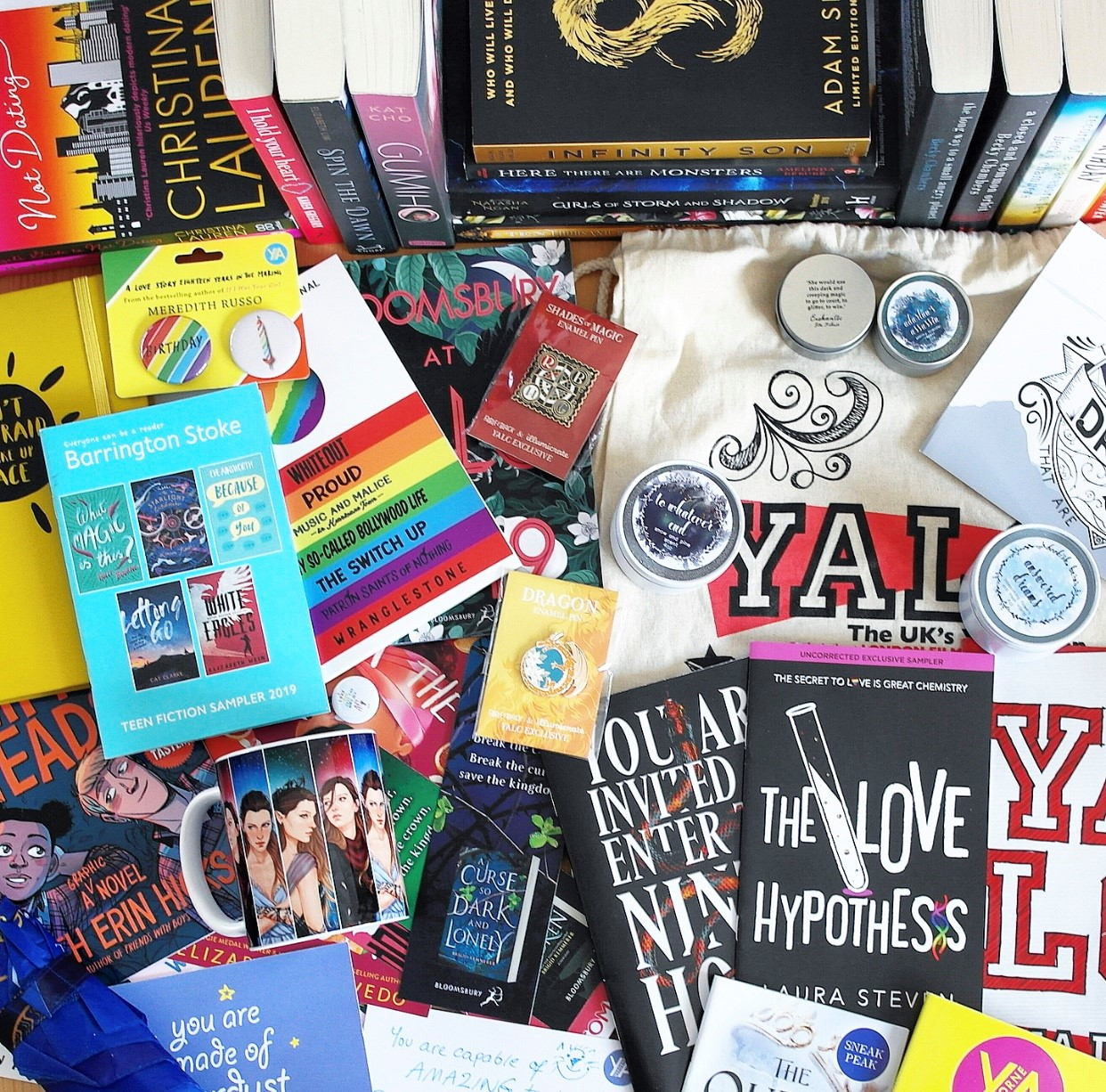 The swag I got at YALC