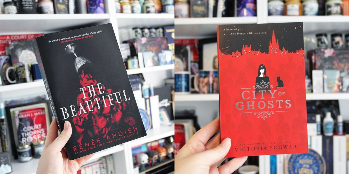 The Beautiful by Renee Ahdieh and City of Ghosts by Victoria Schwab