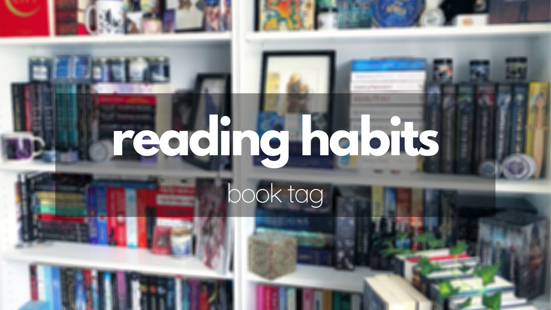 The Reading Habits Book Tag!