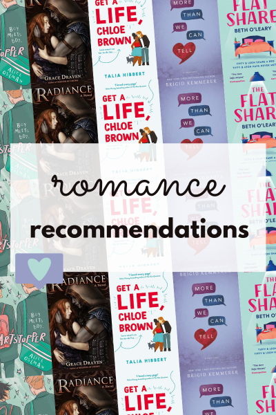 romance recommendations graphic