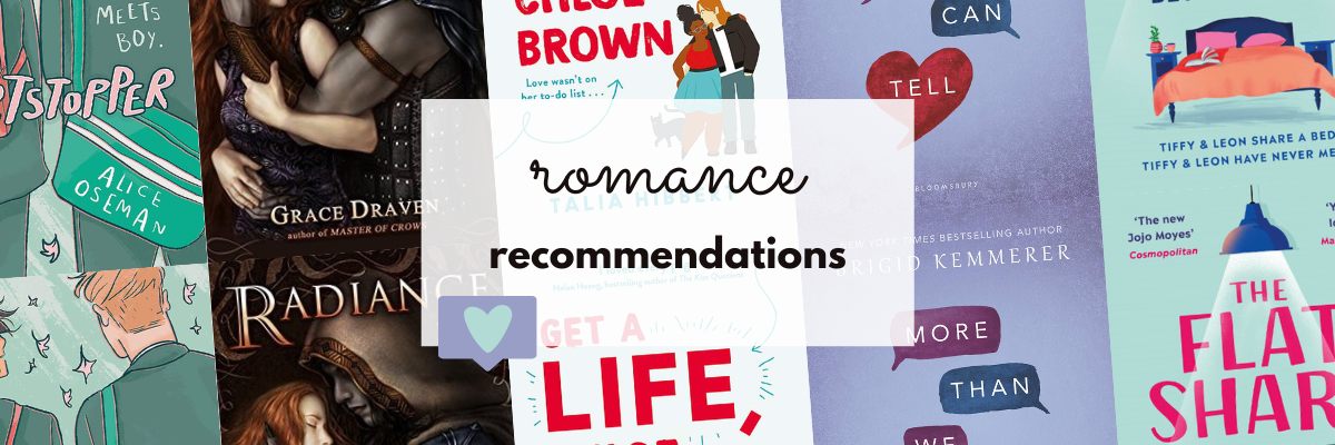 5 romantic reads to add to your TBR graphic