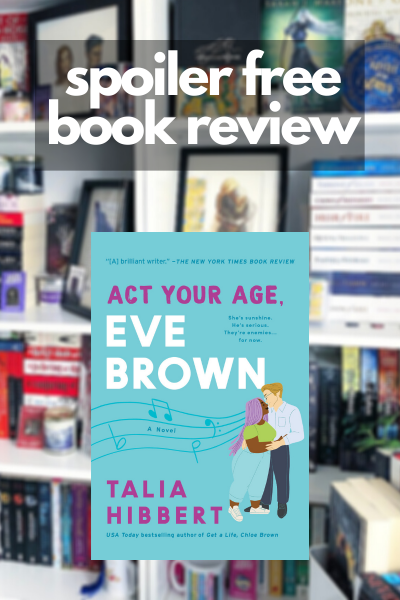 Review of Act Your Age Eve Brown with the cover overlay