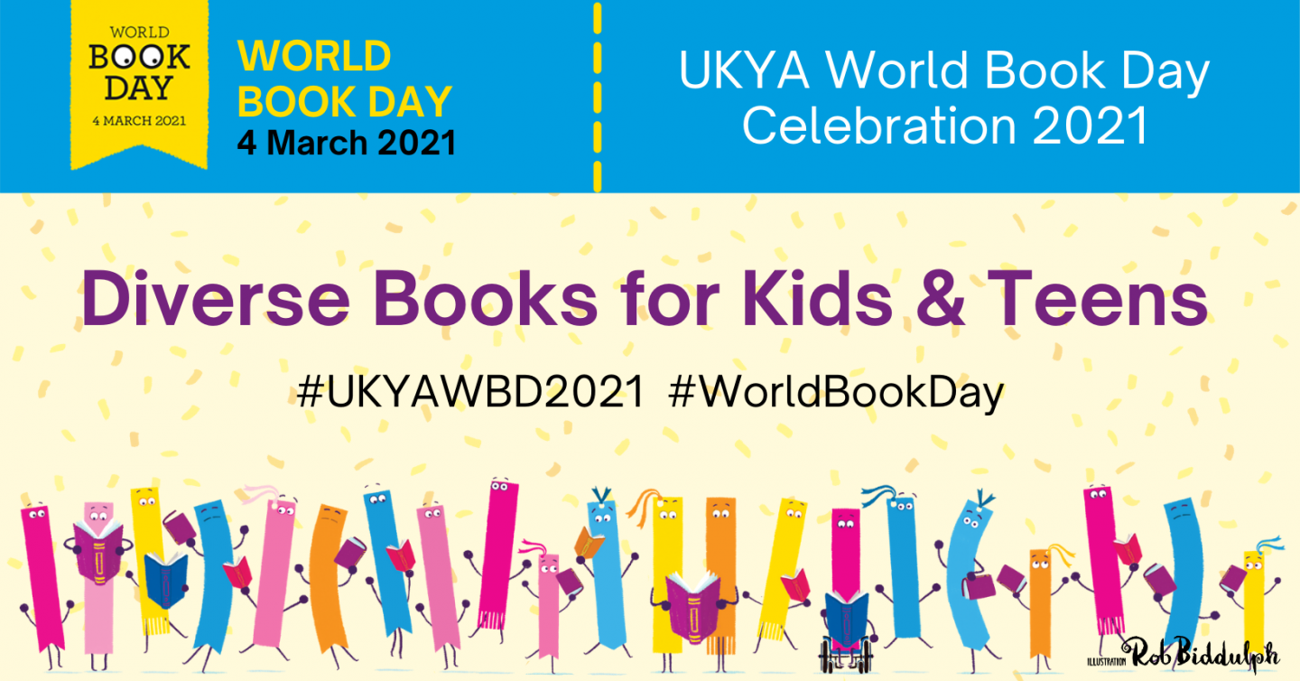 Diverse books for kids and teens for World Book Day graphic