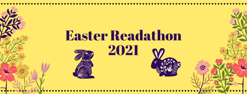 Easter Readathon 2021 graphic created by Kate.